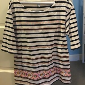 JCrew embroidered tunic Great condition, worn once